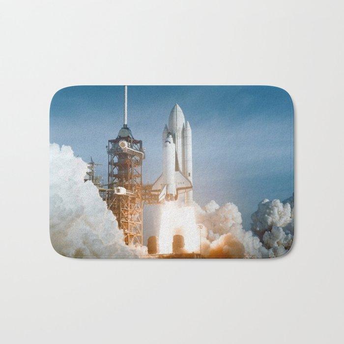 Sts 1 Space Shuttle Launch Bath Mat By Vintageartstore