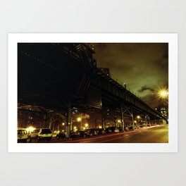 Track Darkness on Cold Cloudy Night Art Print