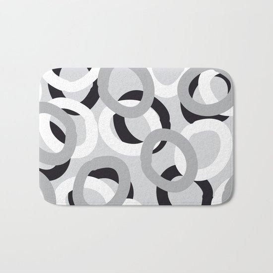curly black, white, gray Bath Mat