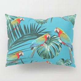 Parrots in the Tropical Jungle #1 #tropical #decor #art #society6 Pillow Sham
