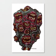 Heads of the Living Dead Zombies: Many Mouth Zombie Canvas Print