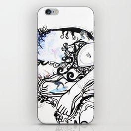 Surfing Feet iPhone Skin