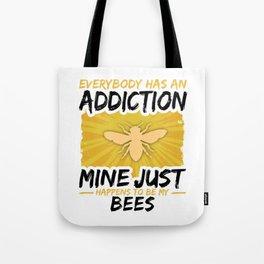 Bee Addiction Funny Farmer Animal Lover Tote Bag