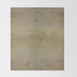 Gold and Silver Leaf Bridget Riley Inspired Pattern Throw Blanket