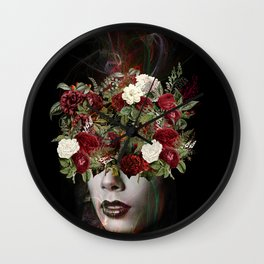 Flower lady Wall Clock