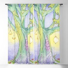 Evening Tree Sprites Blackout Curtain