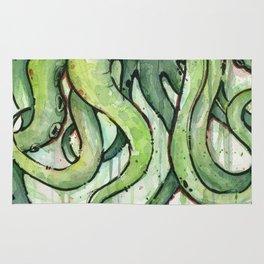 Cthulhu Green Tentacles Rug
