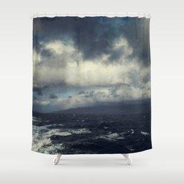 Wild Ocean with Rainbow Shower Curtain