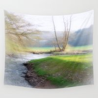 running Wall Tapestries featuring Running Water by Laake-Photos