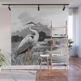 Heron Wall Mural