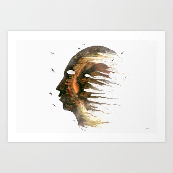 Invisible Demons  Art Print