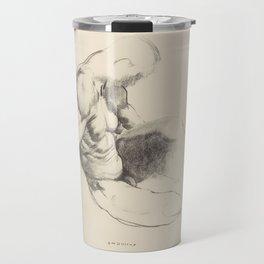 Male Torso, 1916 by George Bellows Travel Mug