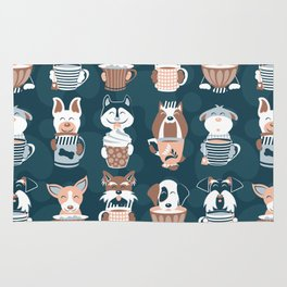 Doggie Coffee and Tea Time II Rug