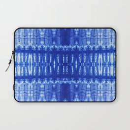 tie dye ancient resist-dyeing techniques Indigo blue textile abstract pattern Laptop Sleeve