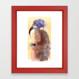 beak lady  Framed Art Print