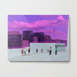 Above the Clouds in Oslo Metal Print
