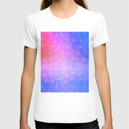 Abstract Colorful Flashy Geometric Triangulate Design T-shirt