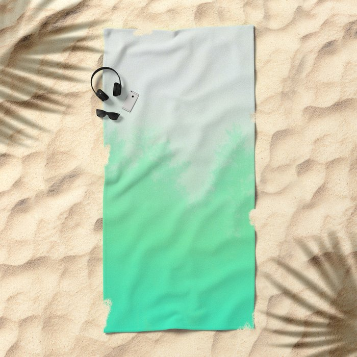 Out of focus - cool green Beach Towel