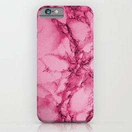 Hot Pink Marble Pattern iPhone Case