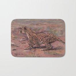 Vintage Cheetah Painting (1909) Bath Mat