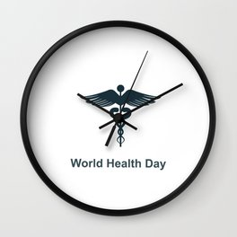 World Health Day Wall Clock