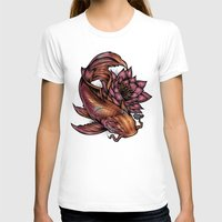 koi fish T-shirts featuring Koi Fish by Absorb81