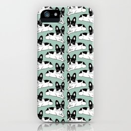 Double Hooded Pied Frenchie iPhone Case