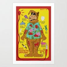 Alf's Melmacian Anatomy Art Print