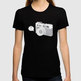 "Yashica Camera - ""Say Cheese"" - soft-brown T-shirt"