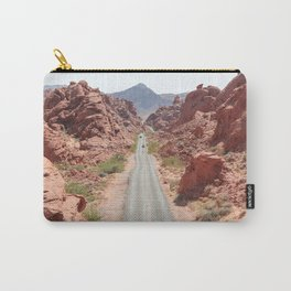 Roads Of Nevada Desert Picture   Valley Of Fire State Park Art Print   USA Travel Photography Carry-All Pouch