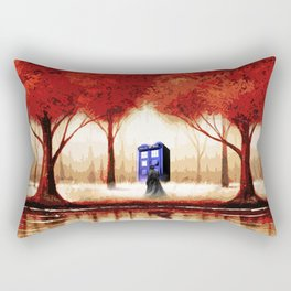 Tardis Cloud - Red Rectangular Pillow