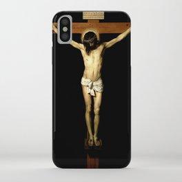 picture of Jesus  III – Velasquez -Christ Crucified 1632 - iPhone Case