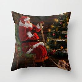Santas List Throw Pillow