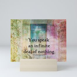 Shakespeare insult Quote from Merchant of Venice Mini Art Print