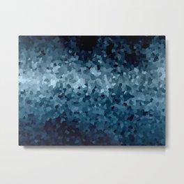 Blue Cristals Metal Print