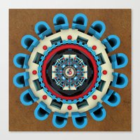 sacred geometry Canvas Prints featuring Sacred Geometry by Angel Decuir