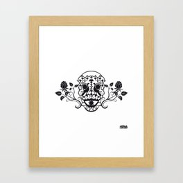SKULL FLOWER 03 Framed Art Print