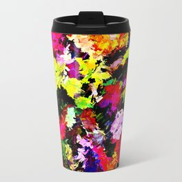 Fallen Autumn Leaves Abstract Travel Mug