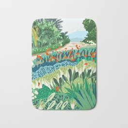 Solo Walk #illustration #nature Bath Mat