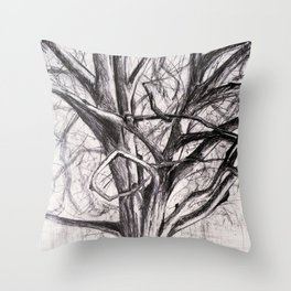 Tree in the Park Throw Pillow