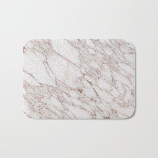 White Marble Carrara Calacatta Bath Mat