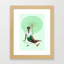 Croquet and Ink Five Framed Art Print
