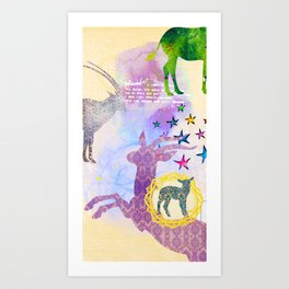 Chinese Lunar New Year and 12 animals  ❤  The SHEEP 羊 Art Print