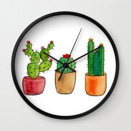 Three Little Cacti Wall Clock