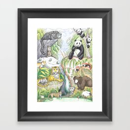 Asian-Highland Animals Framed Art Print