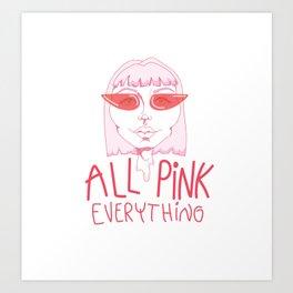 All Pink Art Print