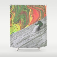 rasta Shower Curtains featuring Rasta Corner by Cale potts Art