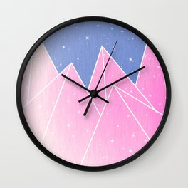 Sparkly Pink Crystals Design Wall Clock