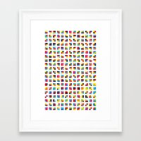sonic Framed Art Prints featuring Sonic by La Pagaille
