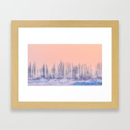 pastel winter landscape #society6 #decor #buyart Framed Art Print